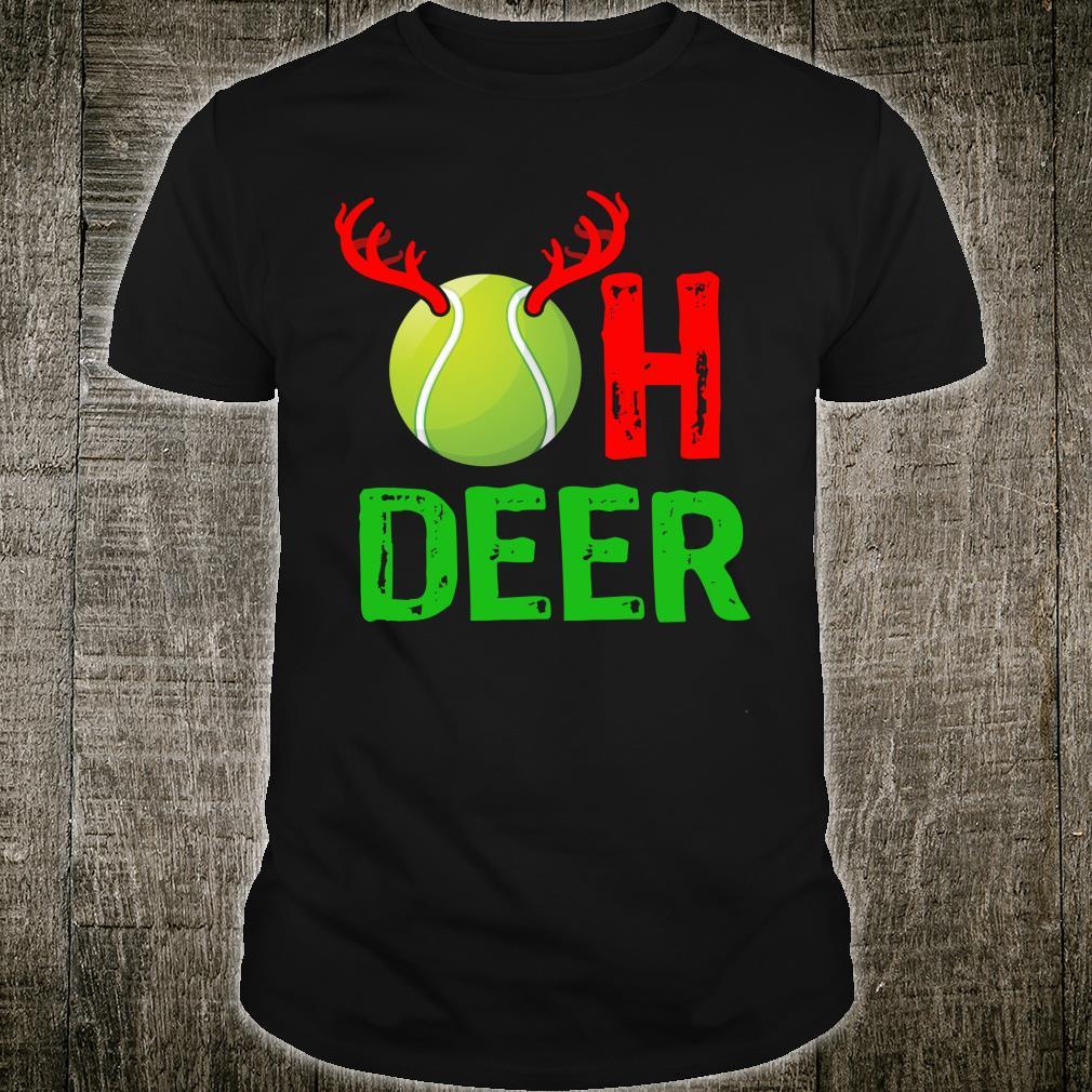 Tennis Oh Deer Christmas Reindeer Shirt