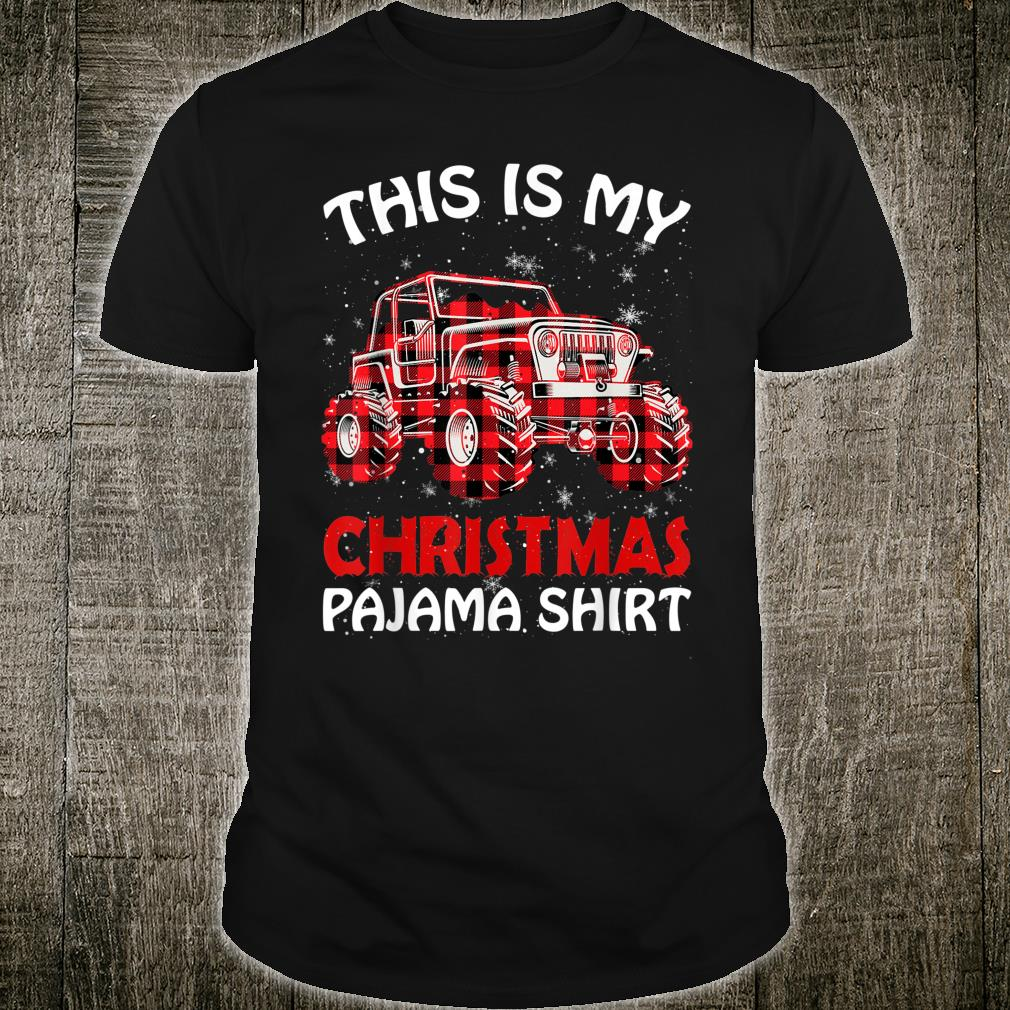 This Is My Christmas Pajama For Monters Truck Shirt