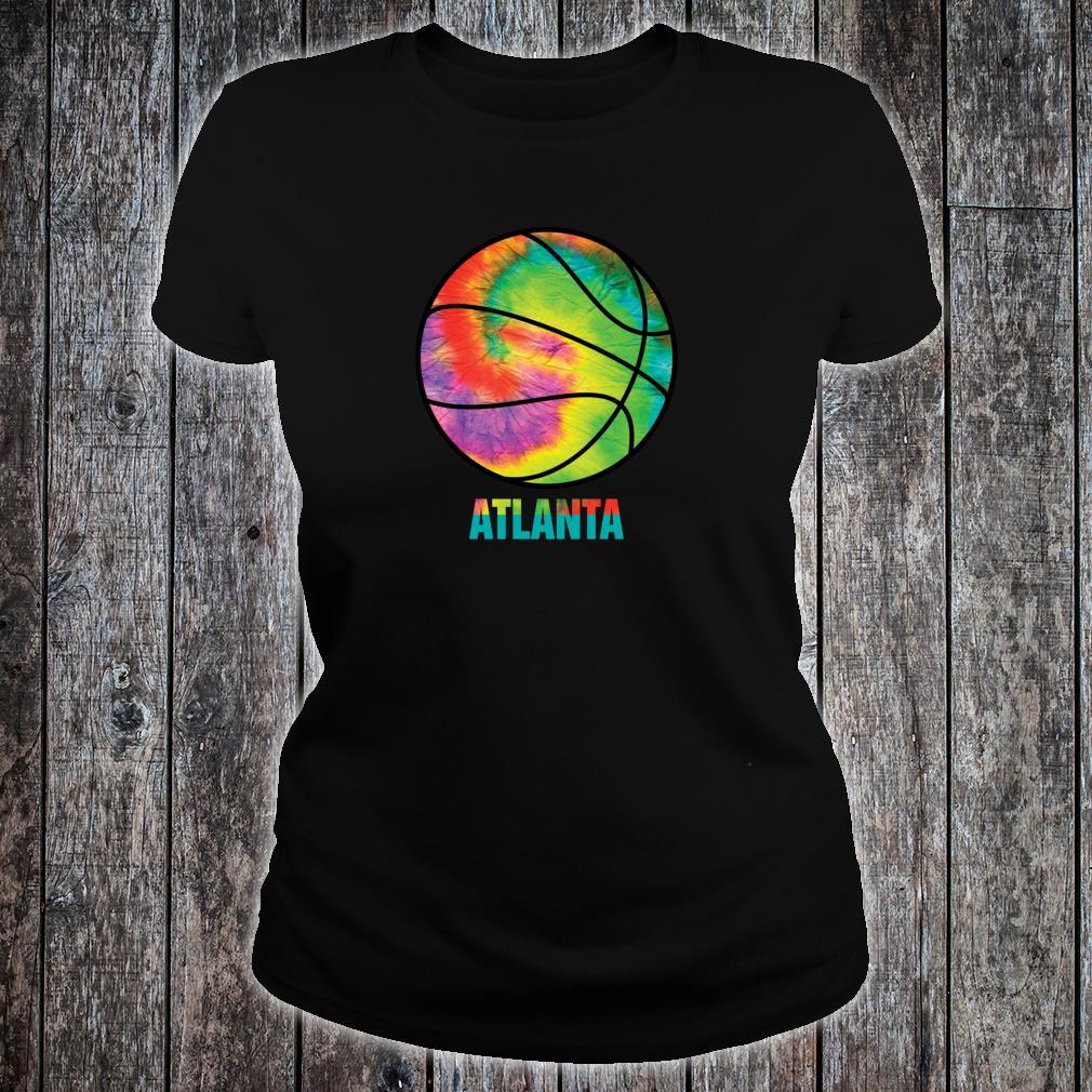 Tie Dye Atlanta Basketball Retro Vintage Classic Old Jersey Shirt ladies tee