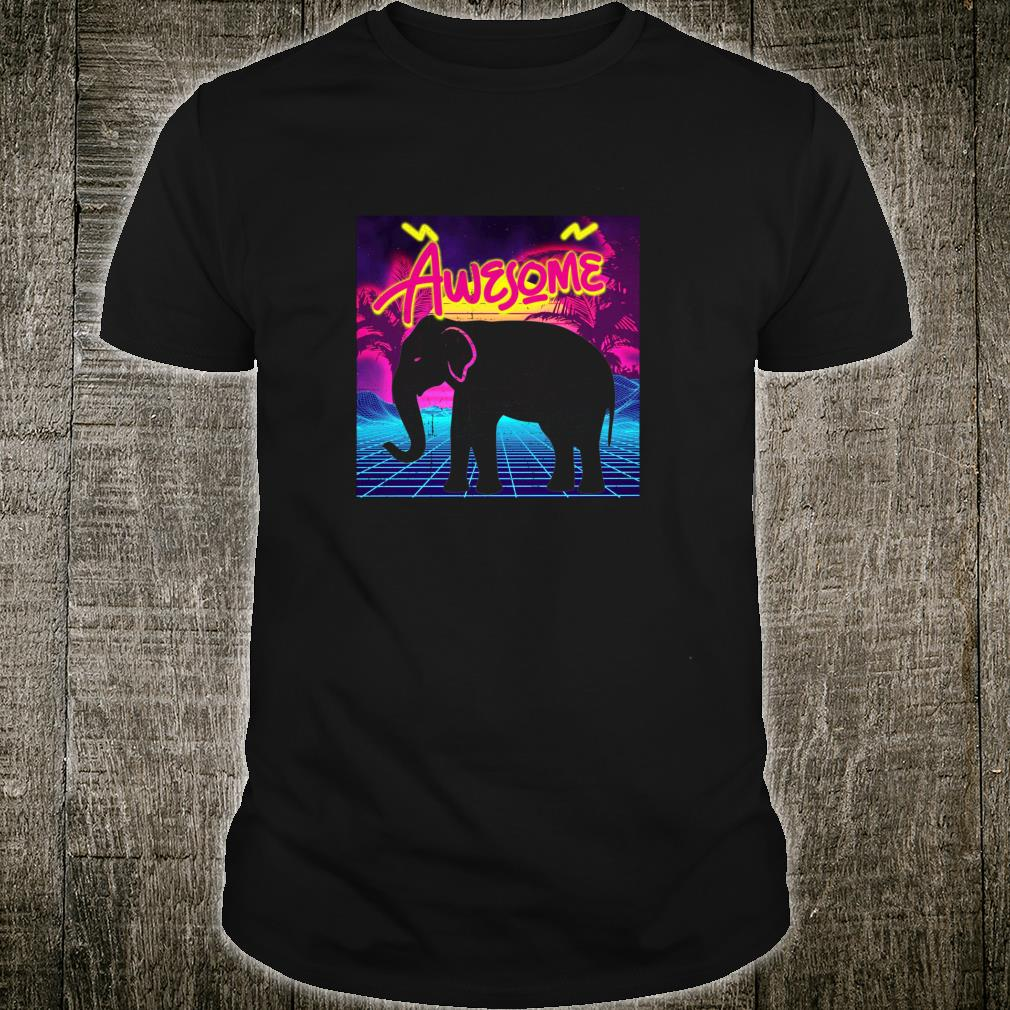 Totally Awesome Eighties Elephant Shirt