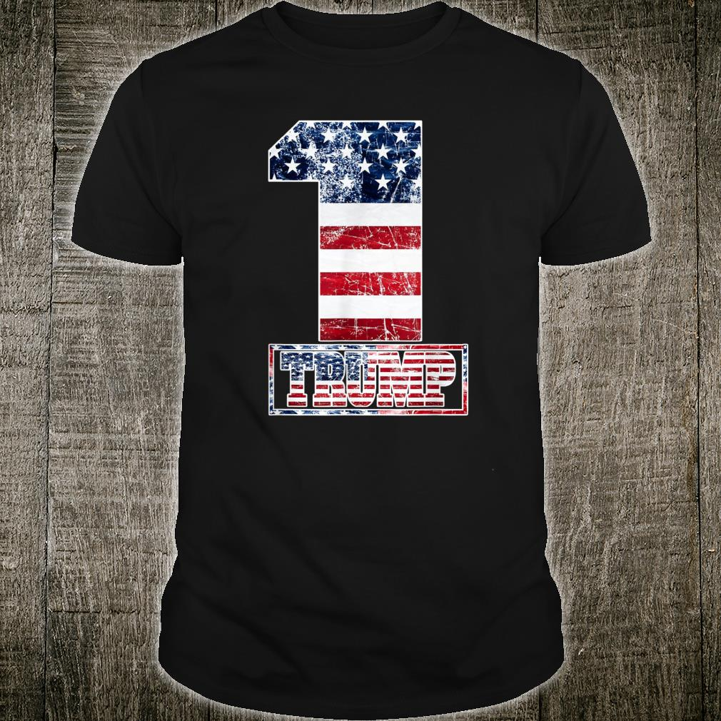 Trump Vintage Retro Distressed USA Flag American Trump flags Shirt