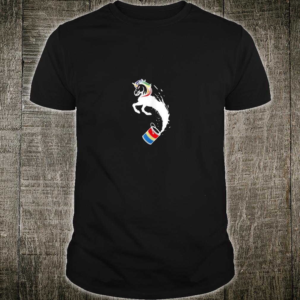 Unicorn Paint Unique Magical Creature Design Shirt