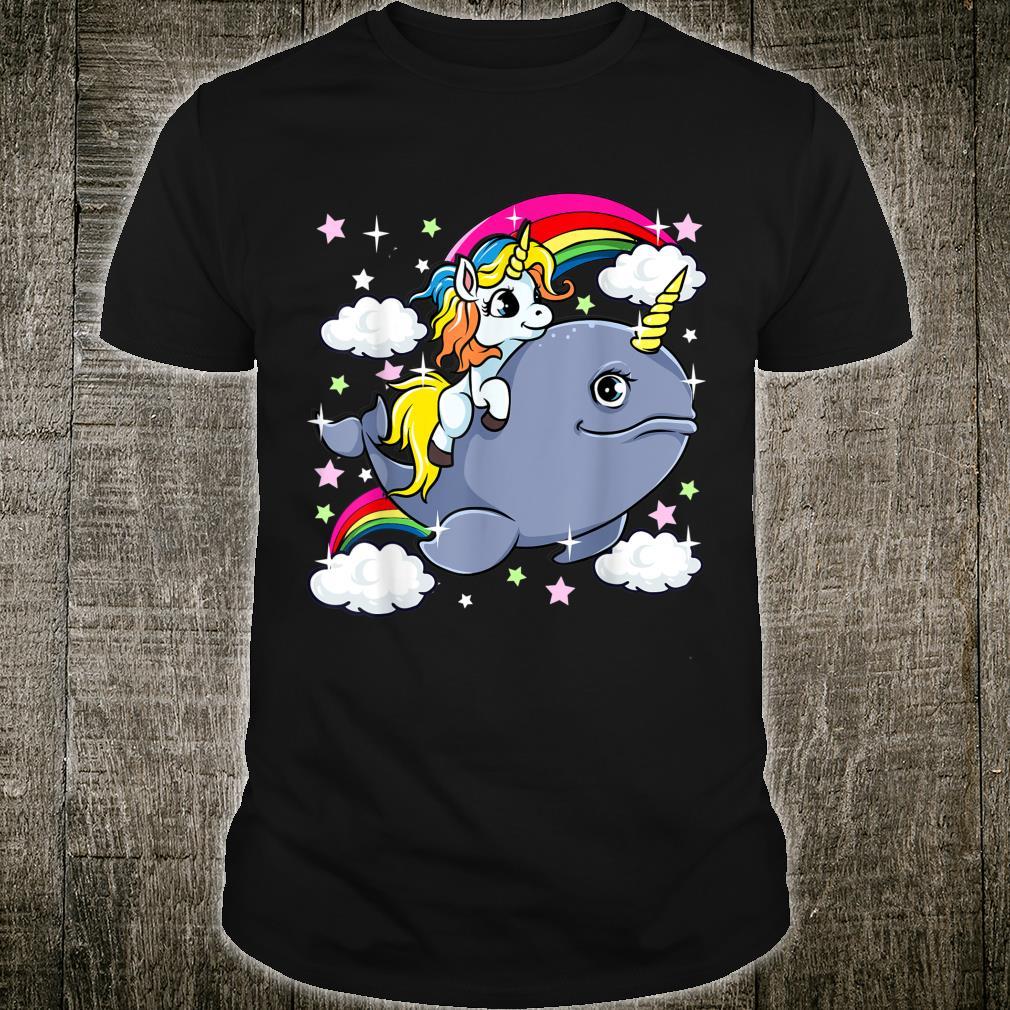 Unicorn Riding Narwhal Adorable Unicorn Of The Sea Shirt