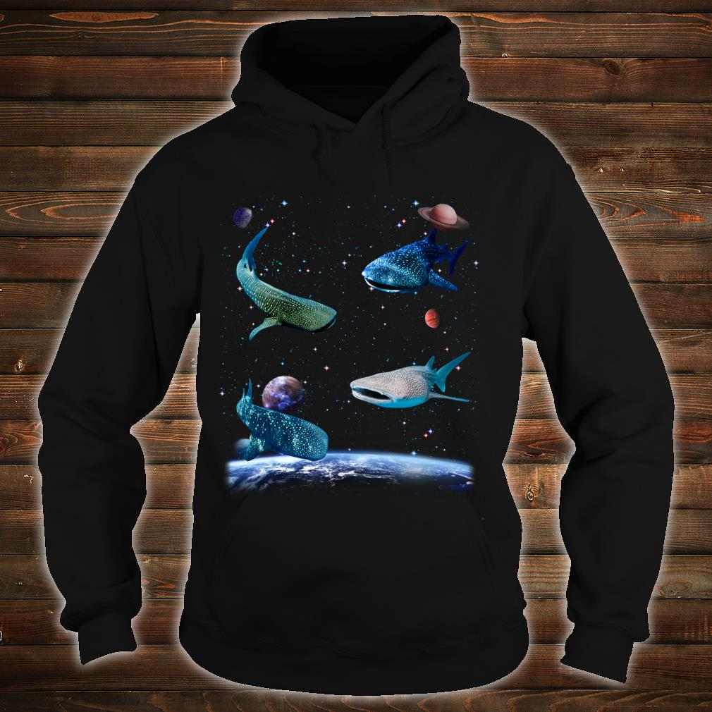 Universe Space Random Sharks Galaxy Fish water Whale Shark Shirt hoodie
