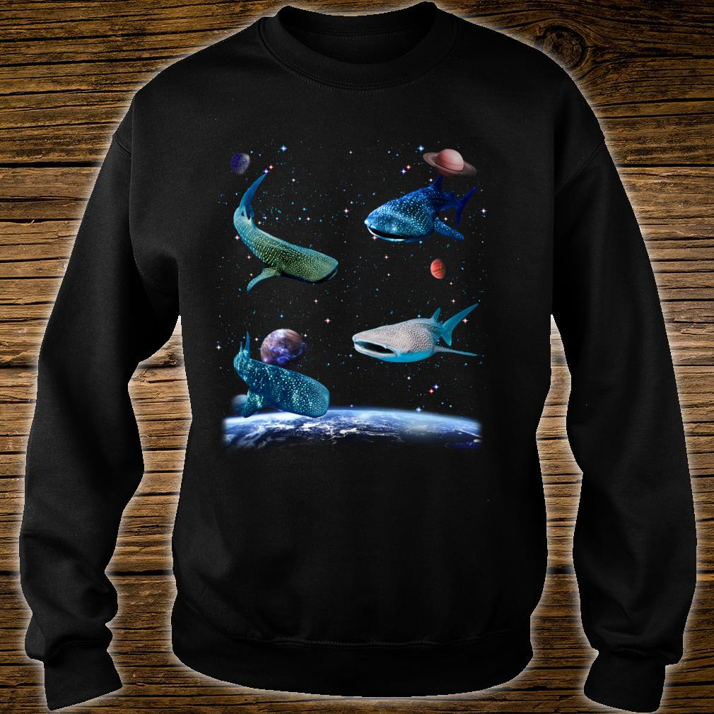 Universe Space Random Sharks Galaxy Fish water Whale Shark Shirt sweater
