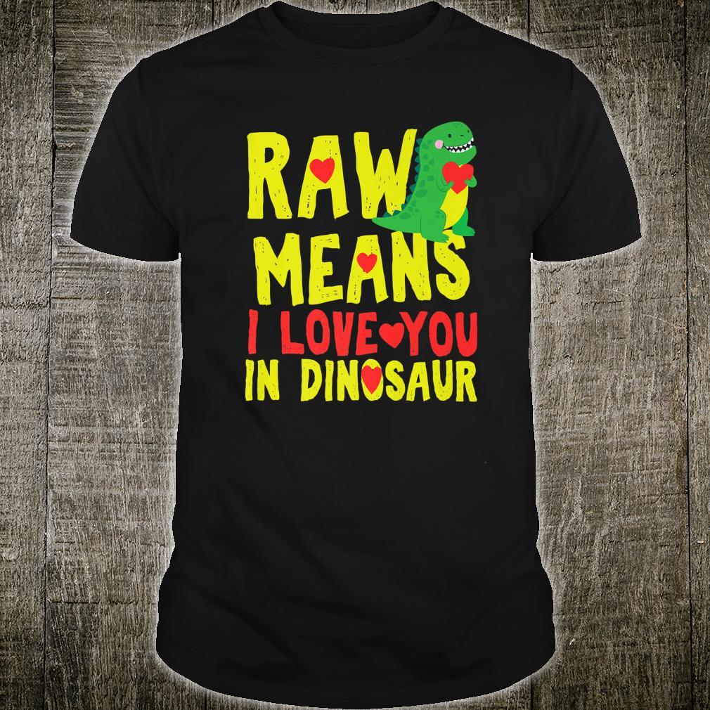 Valentines Day Trex Dinosaur Rawr Cute Boys Shirt