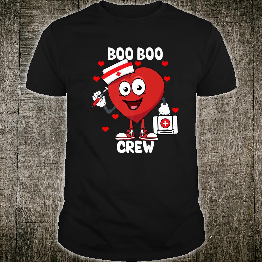 Valentine's Day boo boo crew nurse heart for nurses Shirt