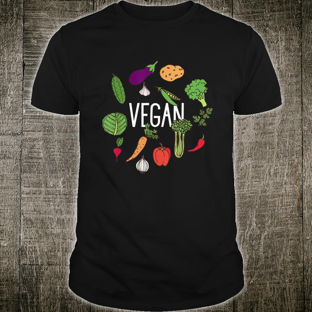 Vegetarian Plant Power Vegan Vegetables Raw Veggies Shirt