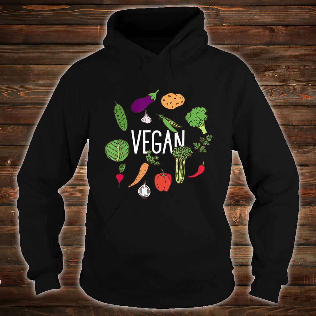 Vegetarian Plant Power Vegan Vegetables Raw Veggies Shirt hoodie