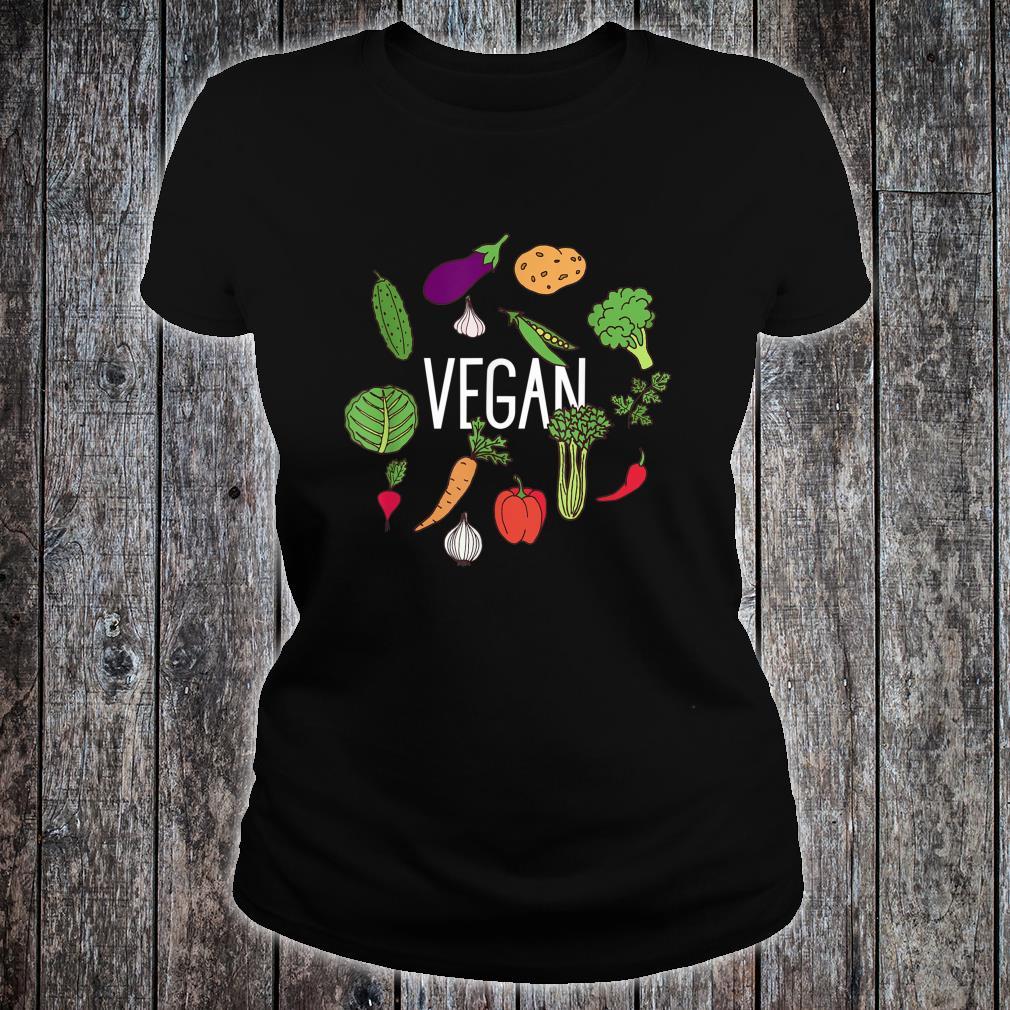 Vegetarian Plant Power Vegan Vegetables Raw Veggies Shirt ladies tee