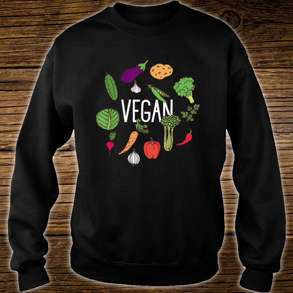 Vegetarian Plant Power Vegan Vegetables Raw Veggies Shirt sweater