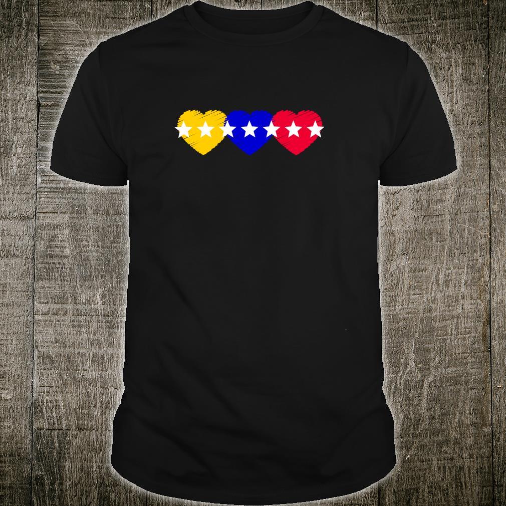 Venezuela 7 stars hearts flagge Shirt