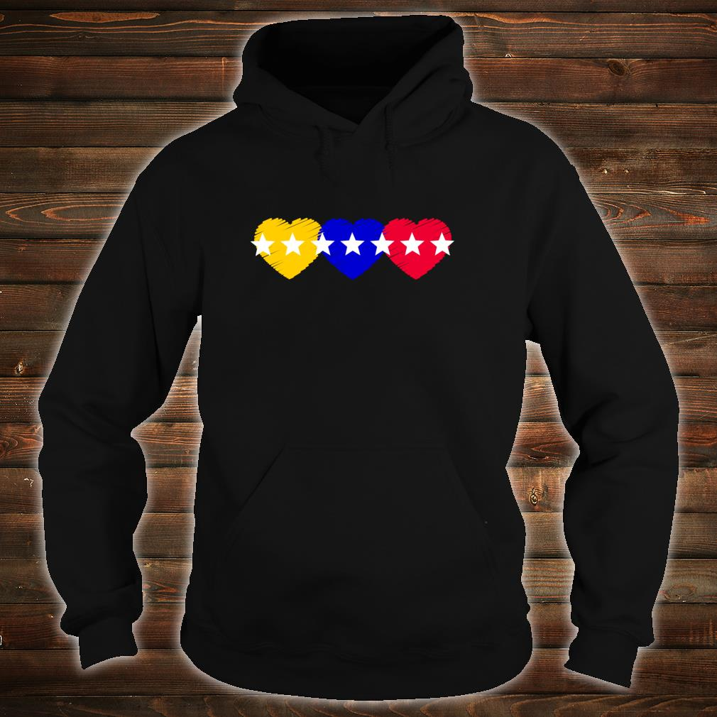 Venezuela 7 stars hearts flagge Shirt hoodie