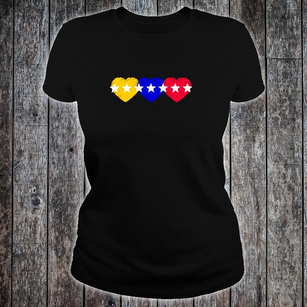 Venezuela 7 stars hearts flagge Shirt ladies tee