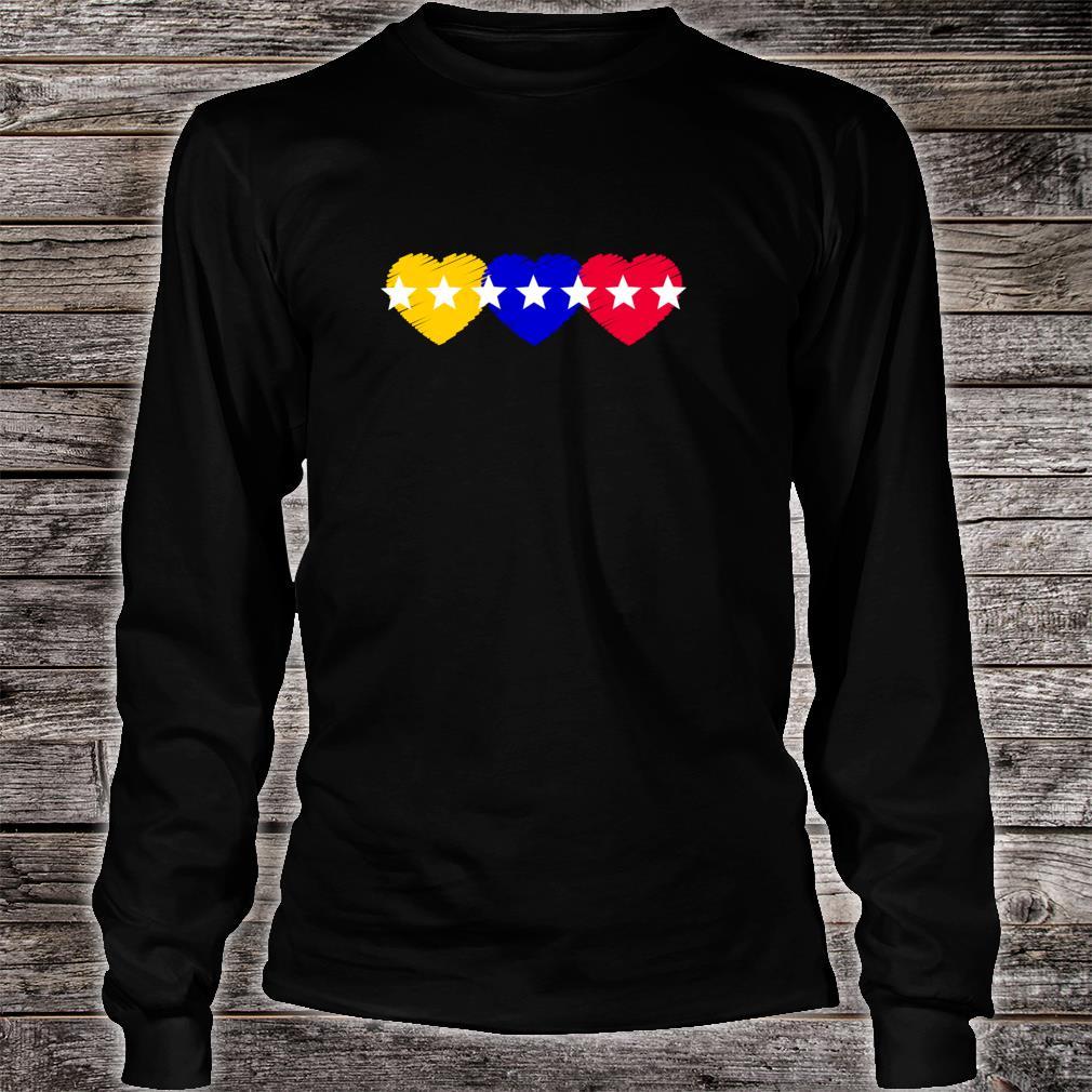 Venezuela 7 stars hearts flagge Shirt long sleeved