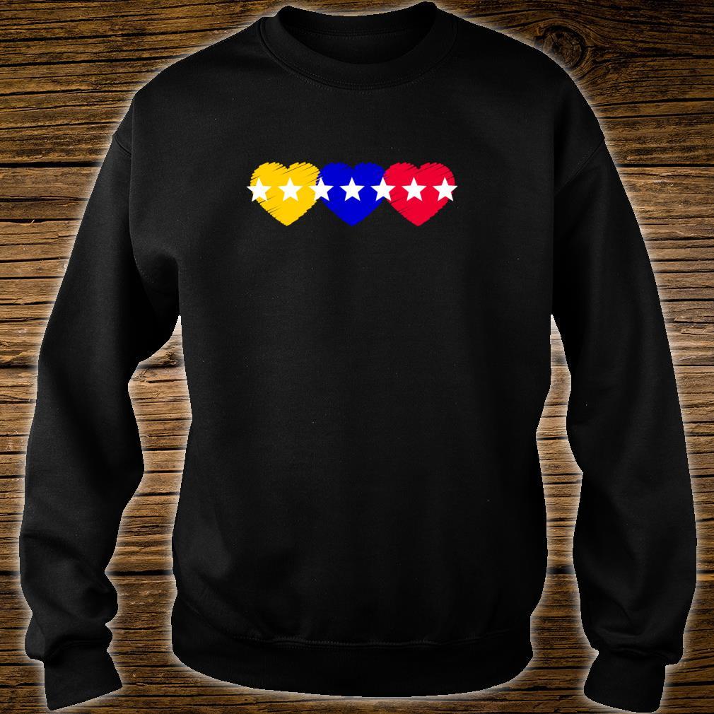 Venezuela 7 stars hearts flagge Shirt sweater