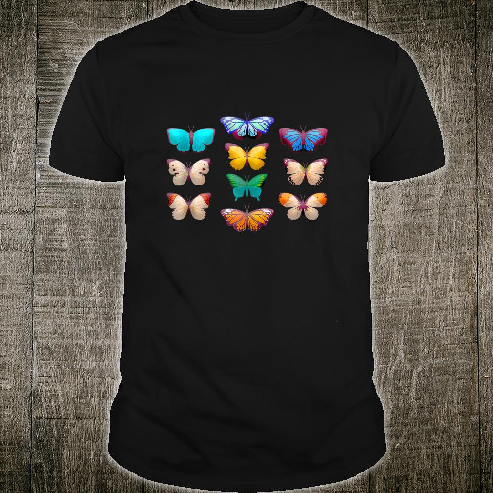 Vintage Botanical Butterfly Species for Butterflies Shirt