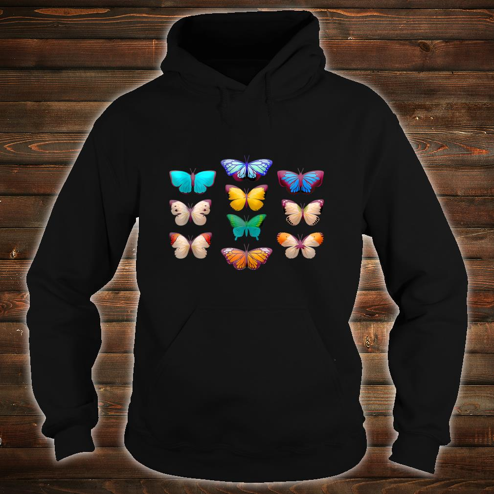 Vintage Botanical Butterfly Species for Butterflies Shirt hoodie