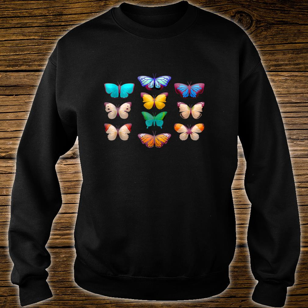 Vintage Botanical Butterfly Species for Butterflies Shirt sweater