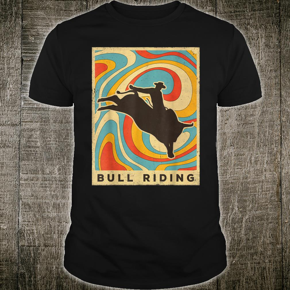 Vintage Bull Riding Retro Sport Poster Shirt