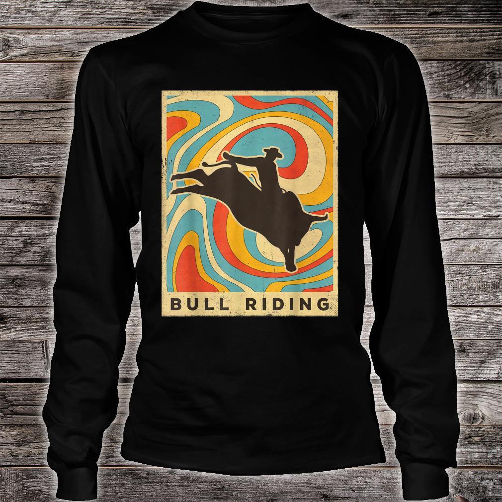 Vintage Bull Riding Retro Sport Poster Shirt long sleeved