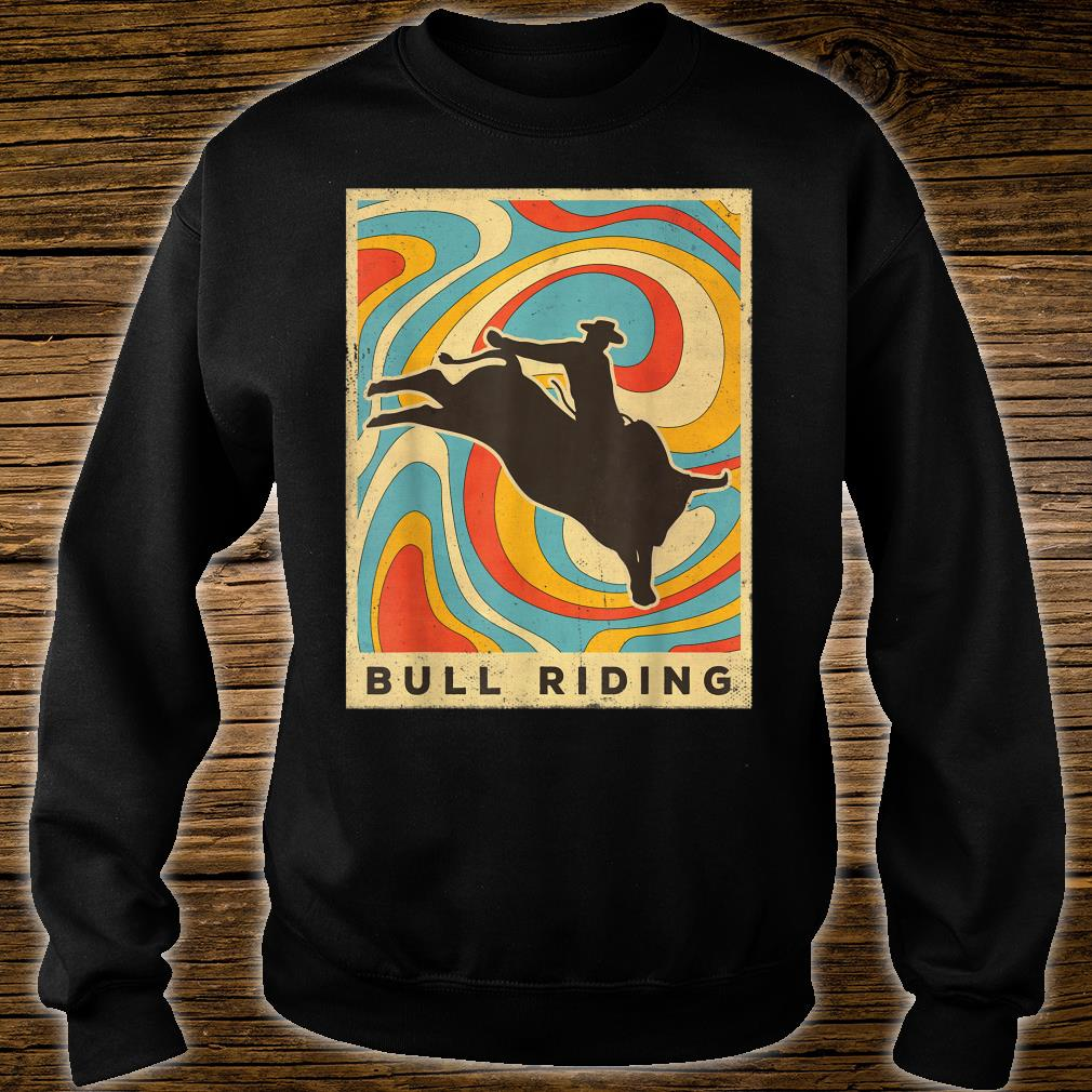Vintage Bull Riding Retro Sport Poster Shirt sweater