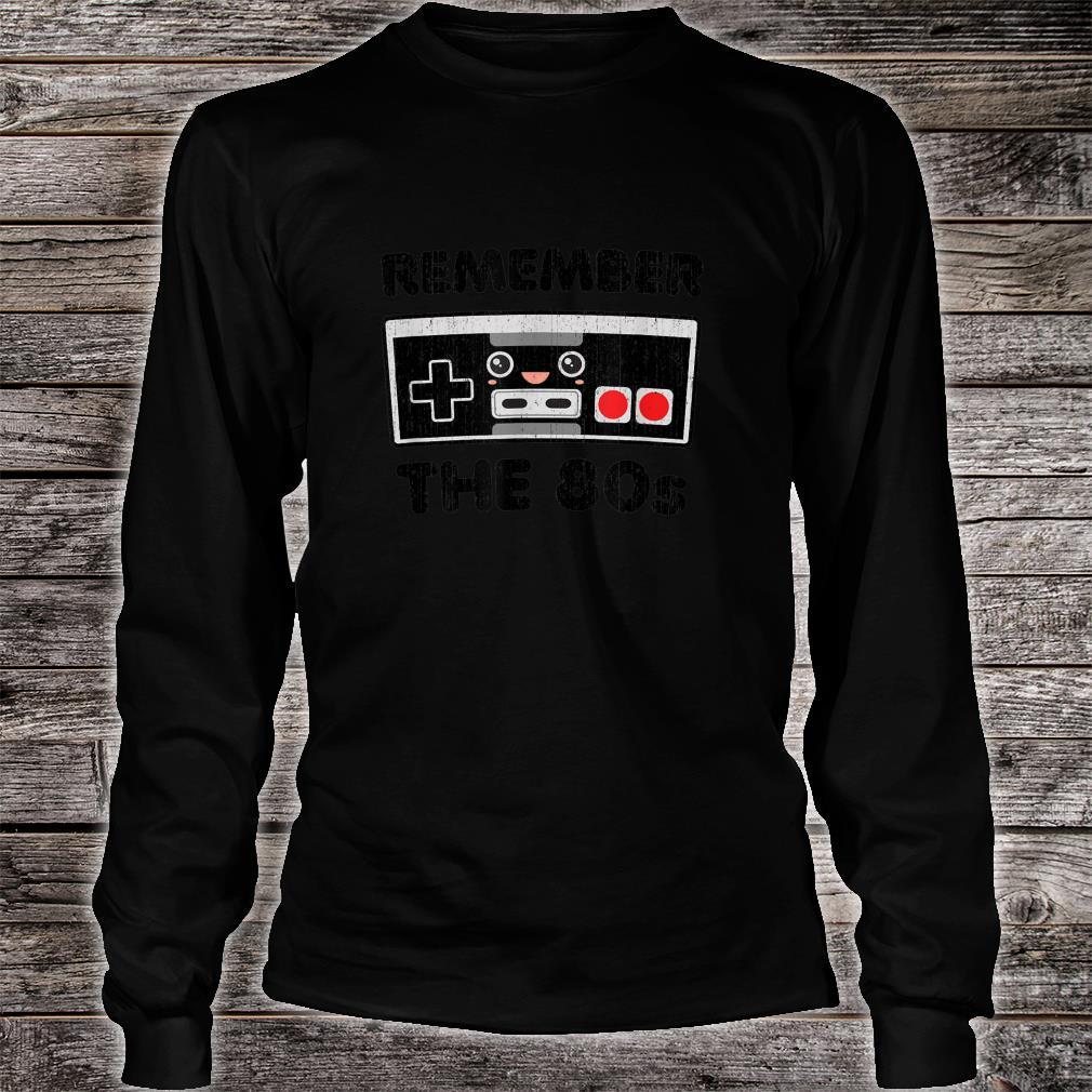 Vintage Eighties Retro Gamer Love Kawaiis Shirt long sleeved