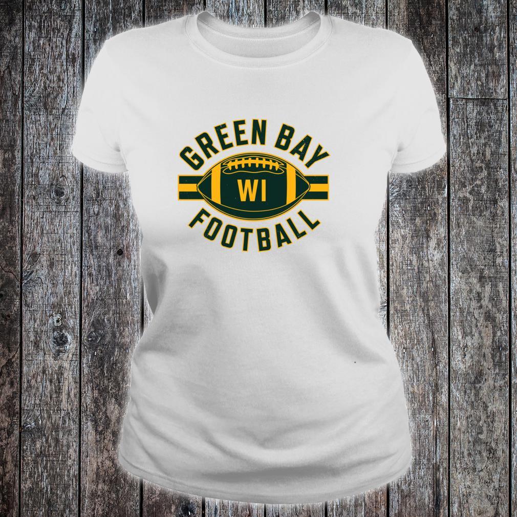 Vintage Green BayFootball Wisconsin Retro Distressed Shirt ladies tee