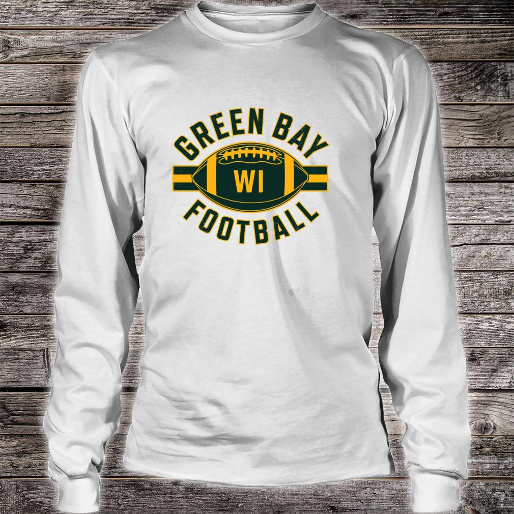 Vintage Green BayFootball Wisconsin Retro Distressed Shirt long sleeved