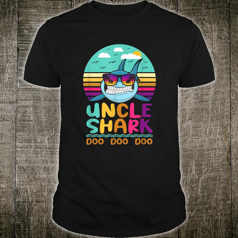 Vintage Uncle Shark Doo Doo Doo Birthday Shirt