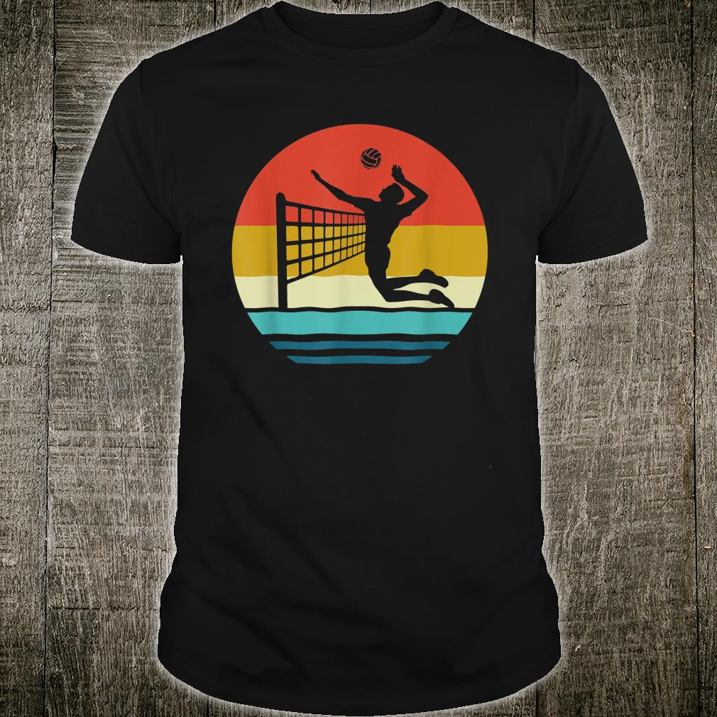 Volleyball Shirt Retro Vintage Volleyball Sports Shirt