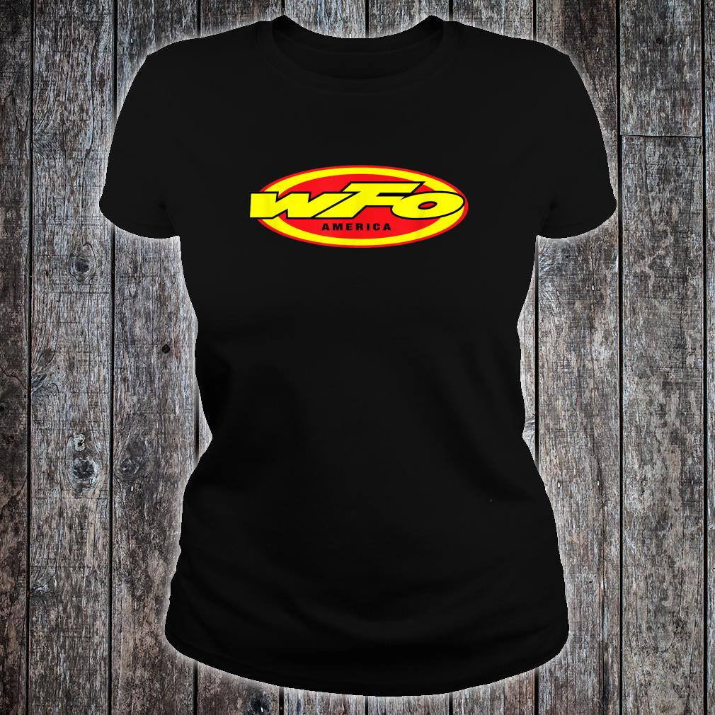 WFO Factory Motocross Racer Dirt Bike Rider America Shirt ladies tee