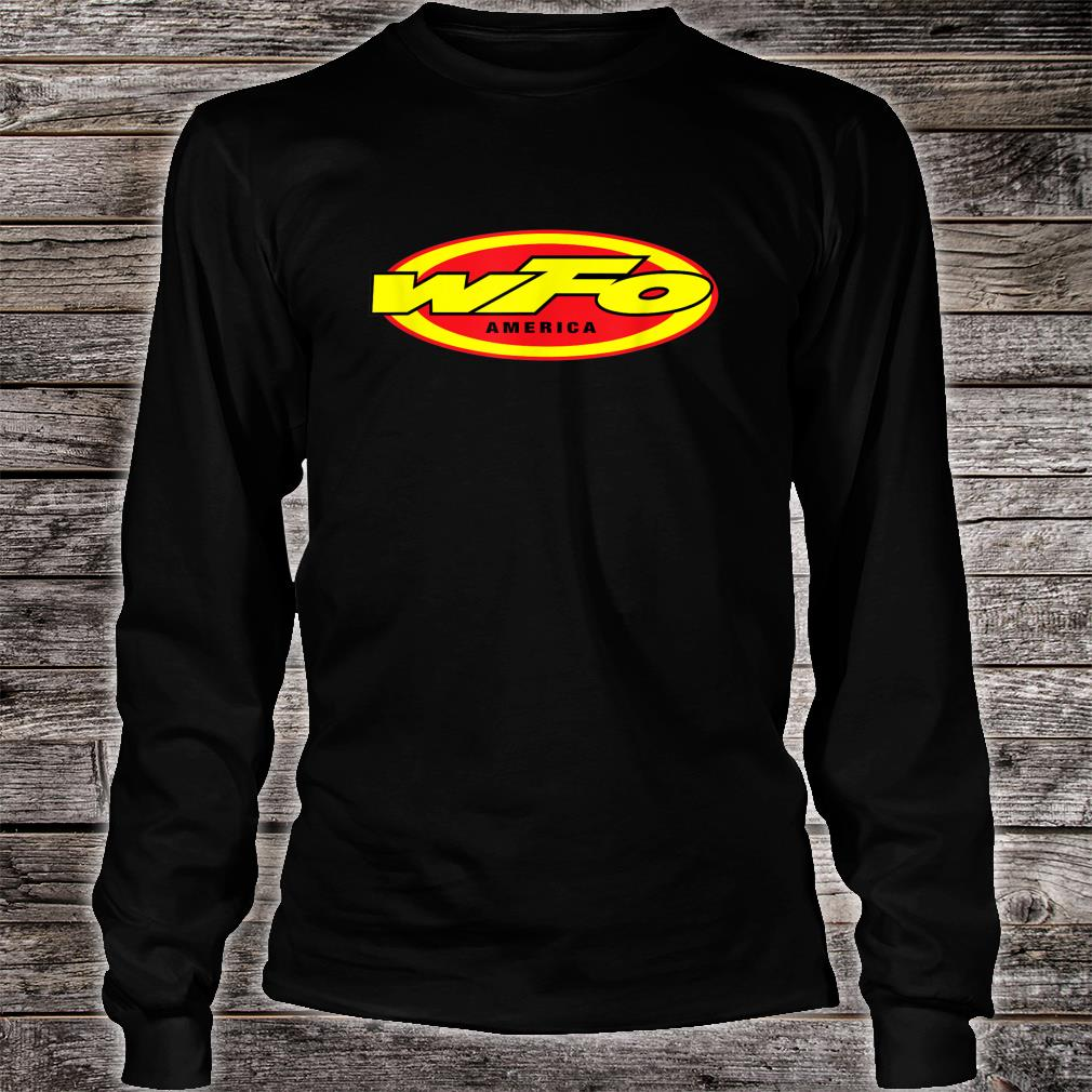 WFO Factory Motocross Racer Dirt Bike Rider America Shirt long sleeved