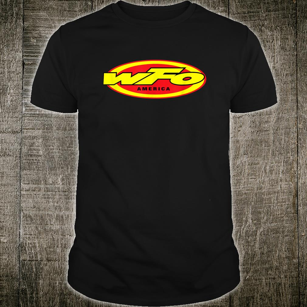 WFO Factory Motocross Racer Dirt Bike Rider America Shirt