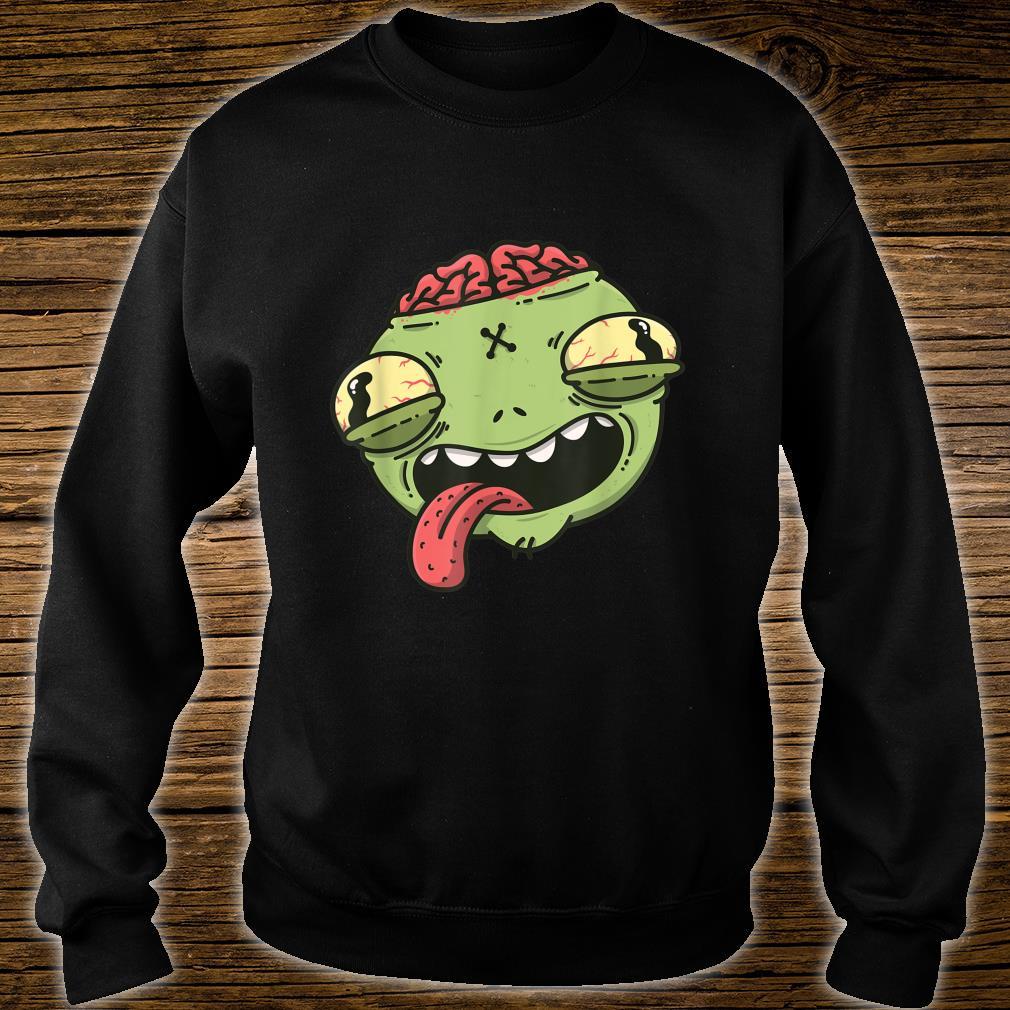 Wacky Green Alien Head Halloween Shirt sweater