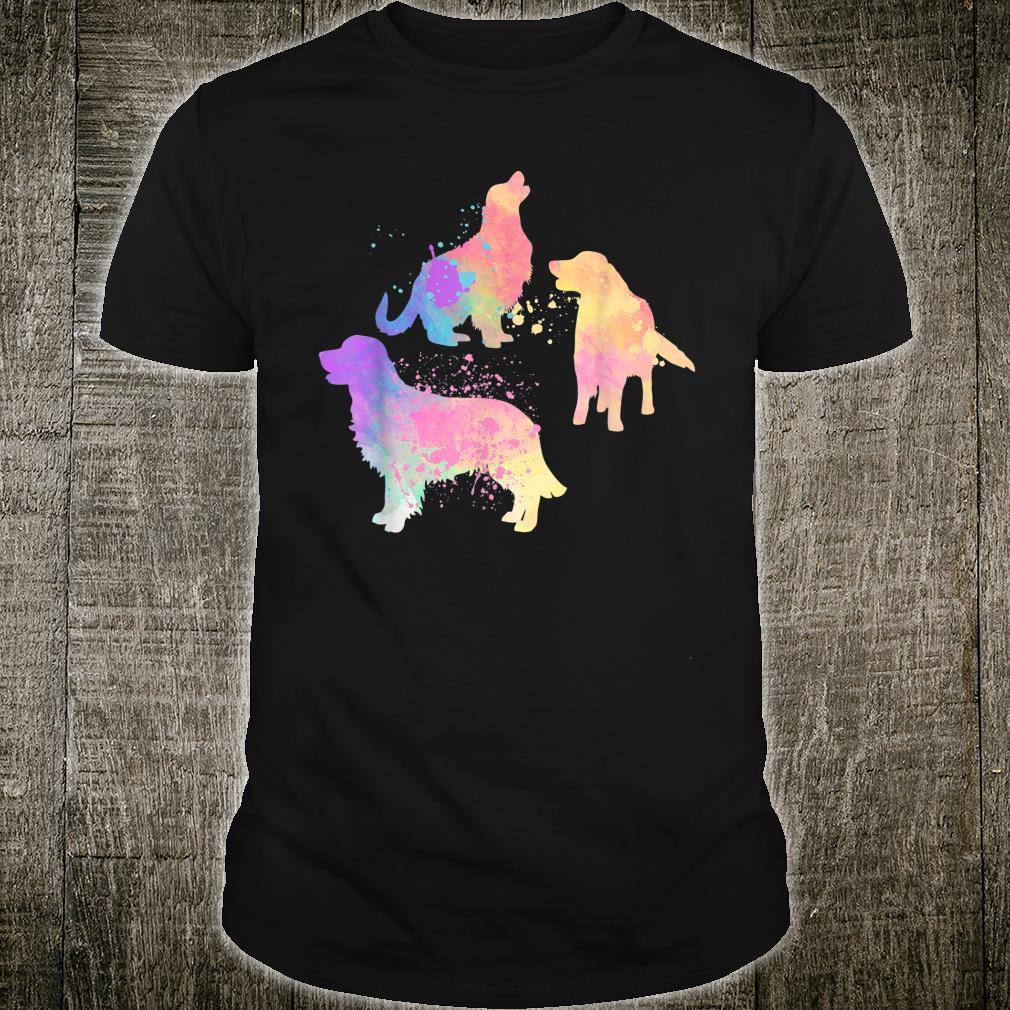 Watercolor Golden Retrievers Dog Shirt