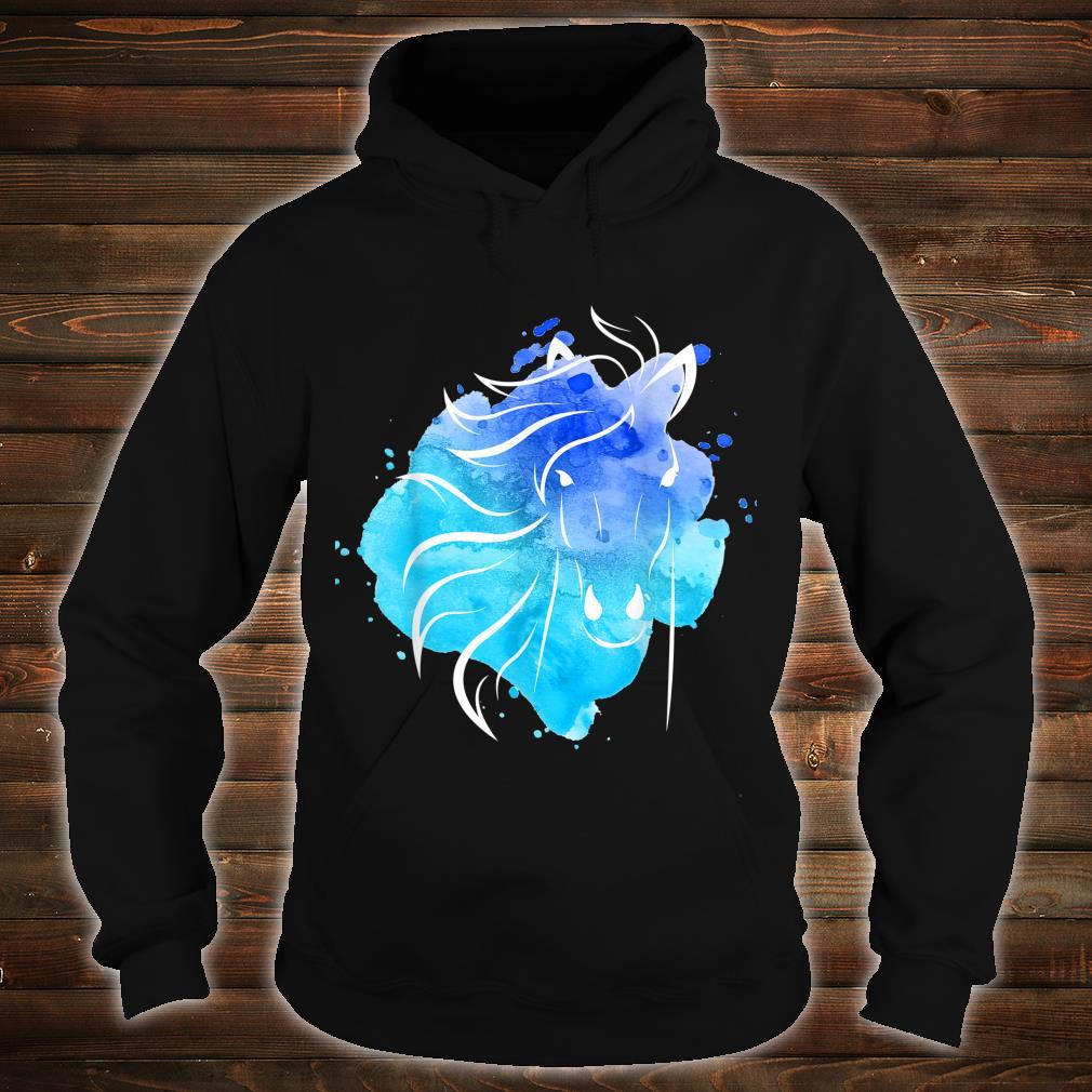 Watercolour Horse Top Ladies Girls Shirt hoodie