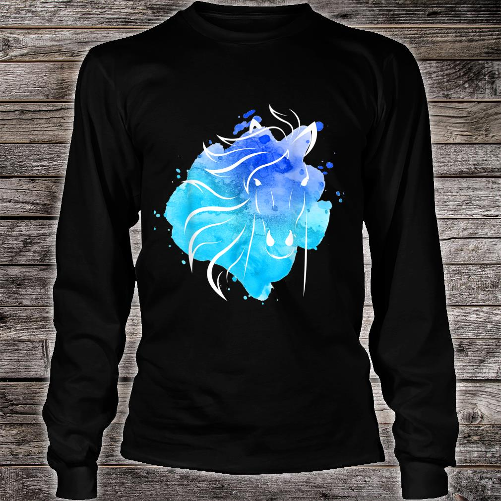 Watercolour Horse Top Ladies Girls Shirt long sleeved