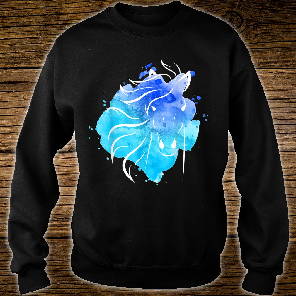 Watercolour Horse Top Ladies Girls Shirt sweater
