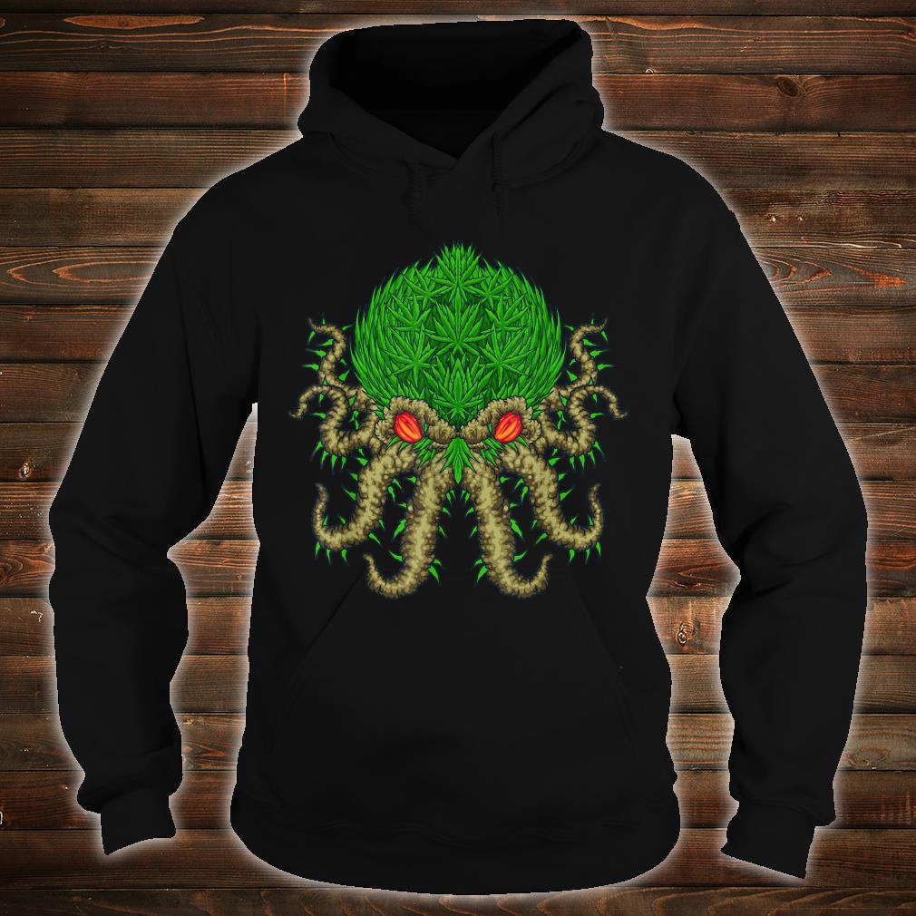 Weed Oktopus Cannabis Krake Marihuana Meerestiere Shirt hoodie
