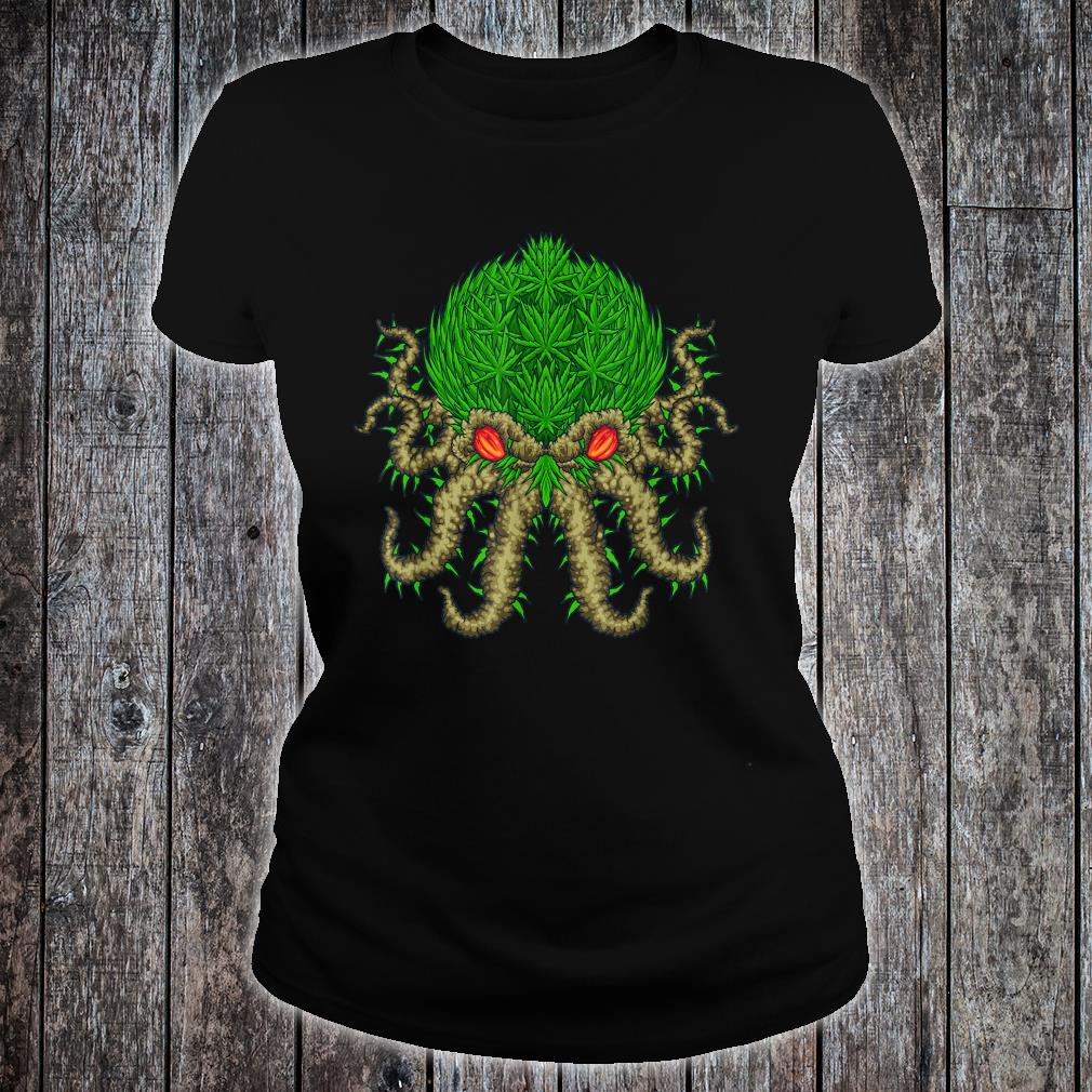 Weed Oktopus Cannabis Krake Marihuana Meerestiere Shirt ladies tee