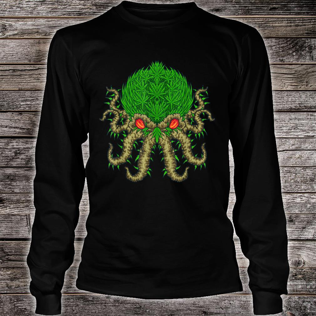Weed Oktopus Cannabis Krake Marihuana Meerestiere Shirt long sleeved