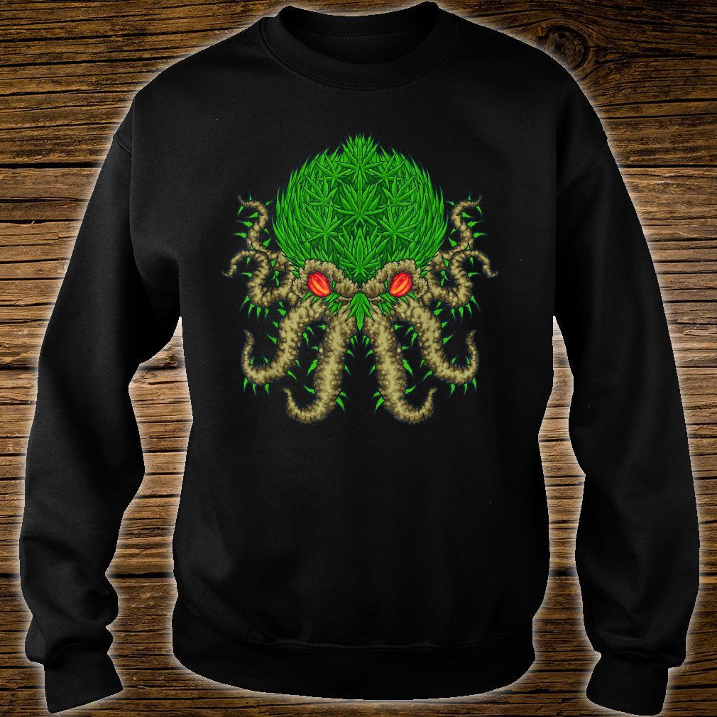 Weed Oktopus Cannabis Krake Marihuana Meerestiere Shirt sweater