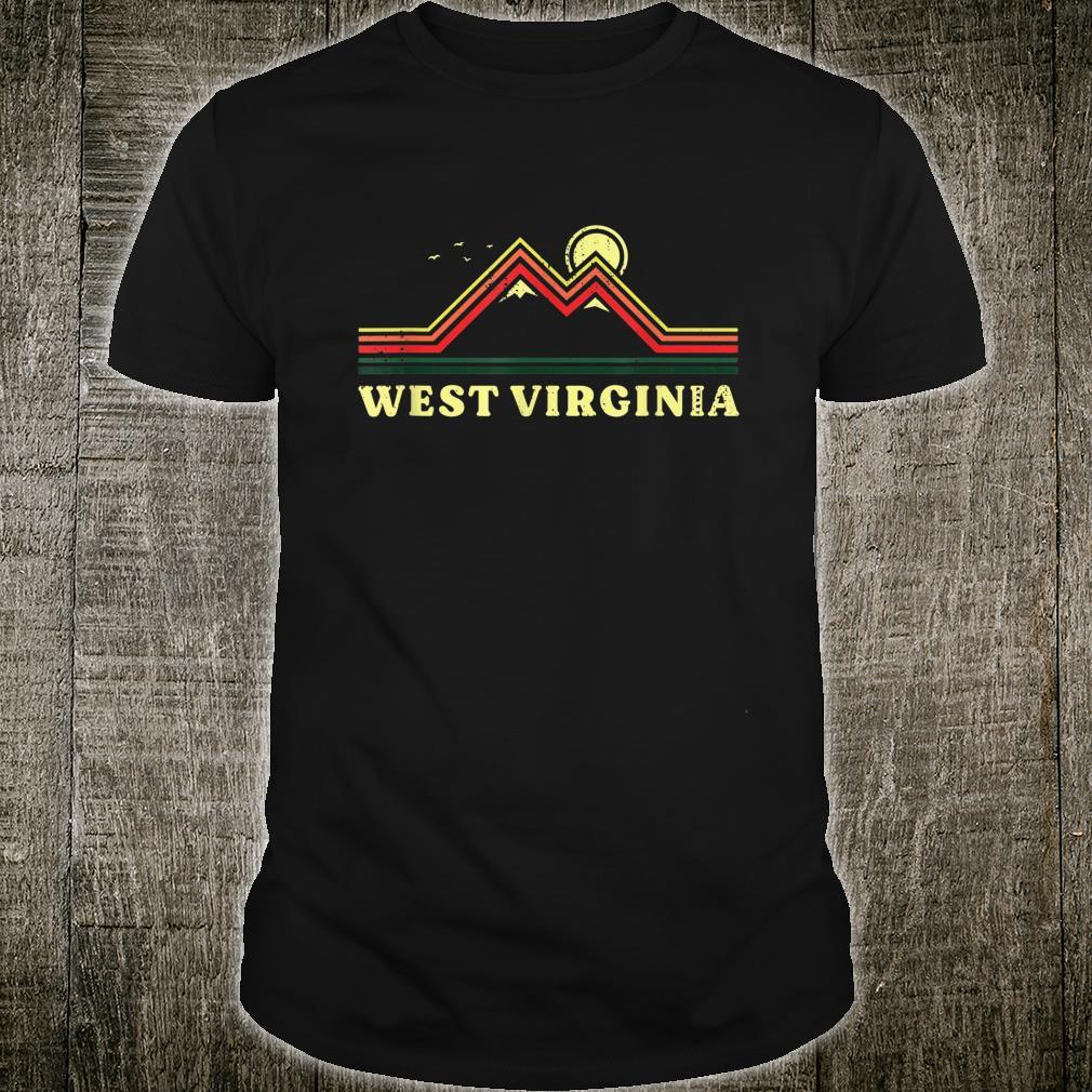 West Virginia Souvenir Hiking Mountains Sunset Shirt