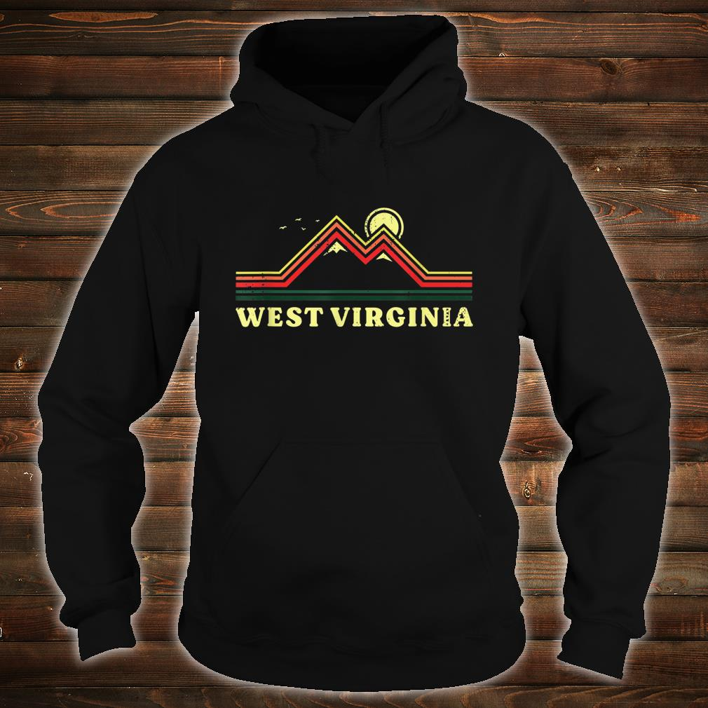 West Virginia Souvenir Hiking Mountains Sunset Shirt hoodie