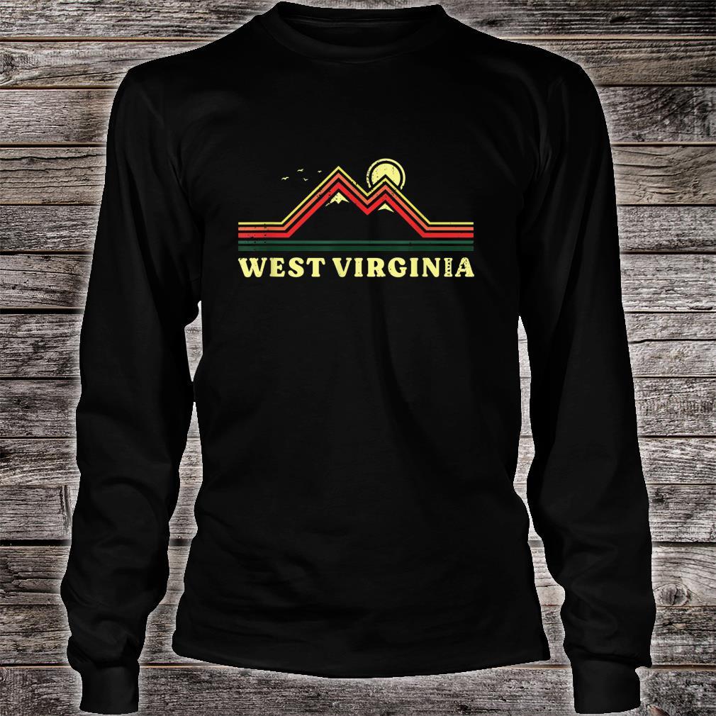 West Virginia Souvenir Hiking Mountains Sunset Shirt long sleeved