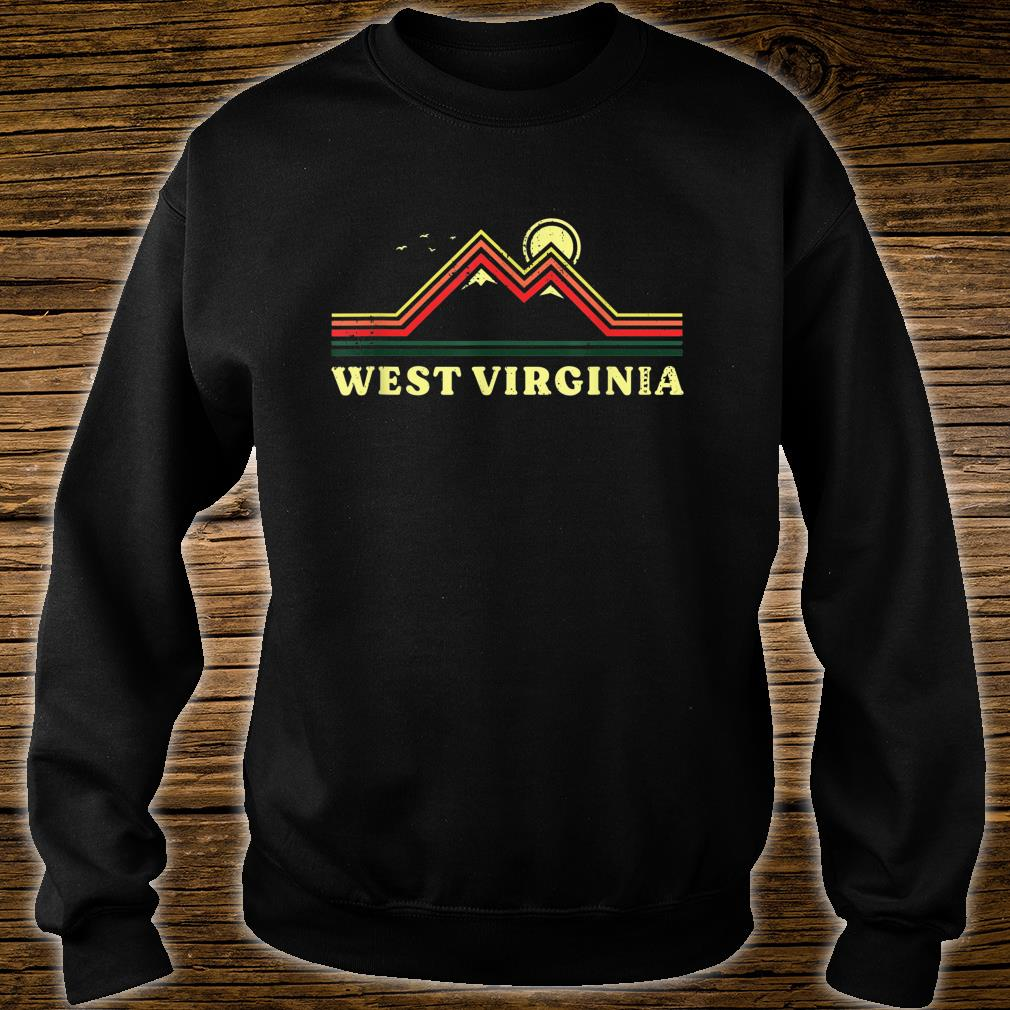 West Virginia Souvenir Hiking Mountains Sunset Shirt sweater