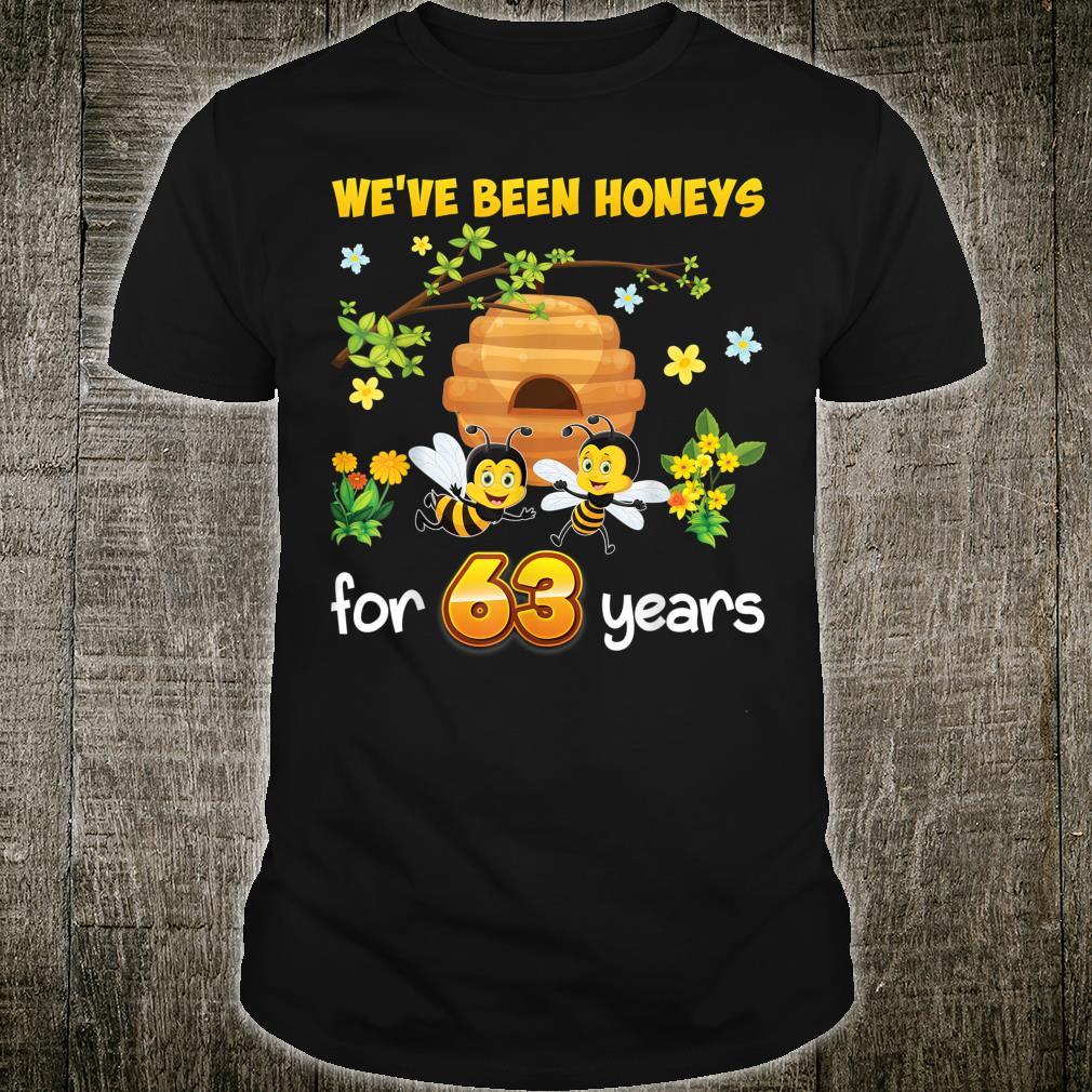 We've Been Honeys For 63 Years 63rd Wedding Anniversary Bee Shirt