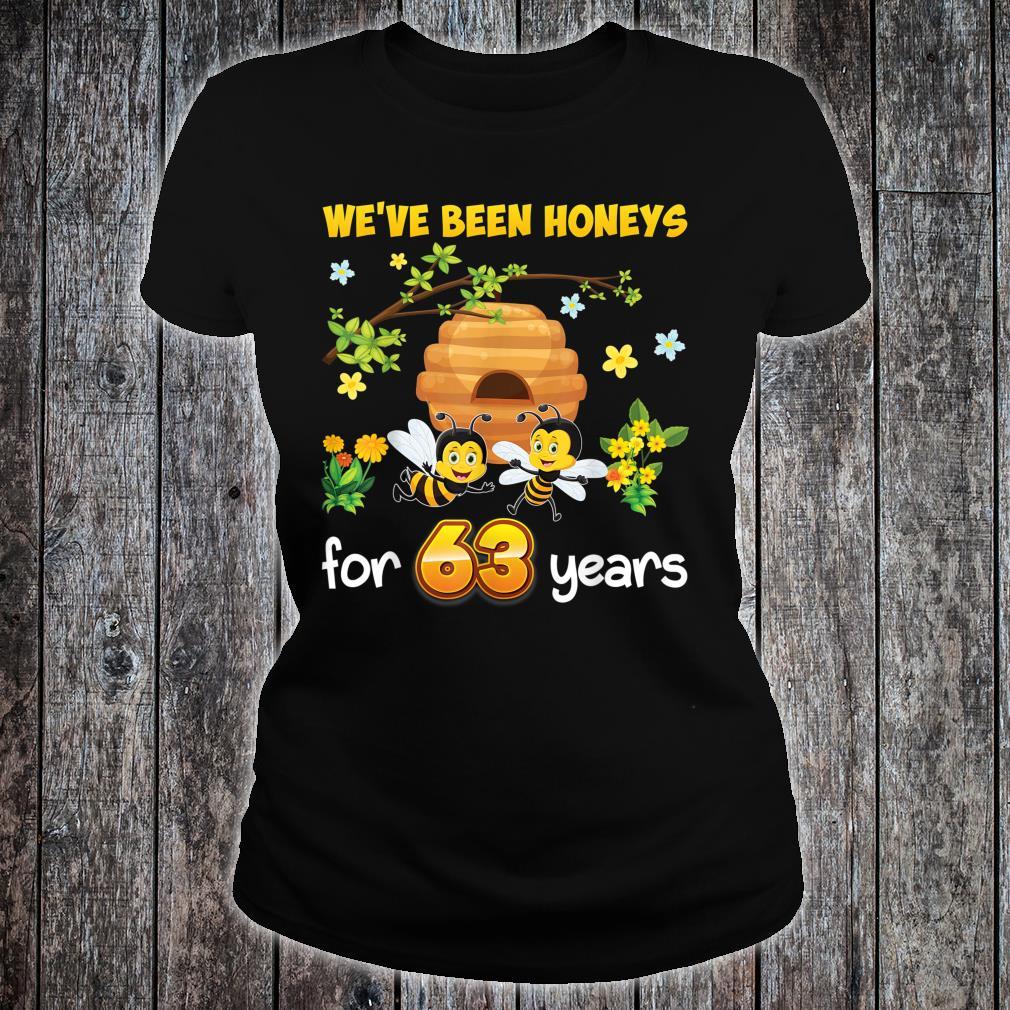 We've Been Honeys For 63 Years 63rd Wedding Anniversary Bee Shirt ladies tee