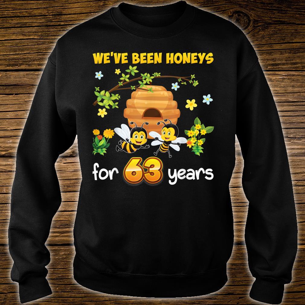 We've Been Honeys For 63 Years 63rd Wedding Anniversary Bee Shirt sweater